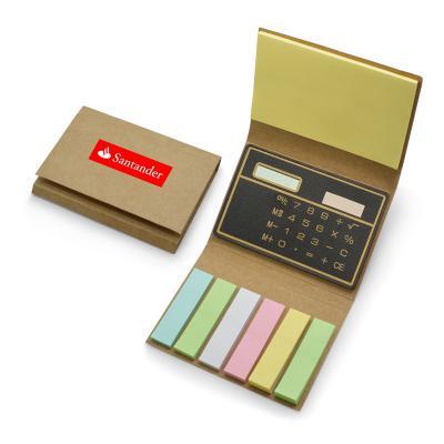 Redd Promocional - Bloco de Anotações Personalizado com Calculadora e Autocolantes 1