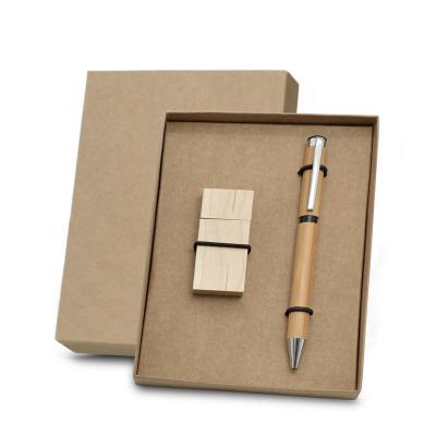 Redd Promocional - Conjunto personalizado com estojo em embalagem kraft 400g, possui 1 caneta produzida em bambu com esferográfica na cor azul, acionamento da ponteira p...