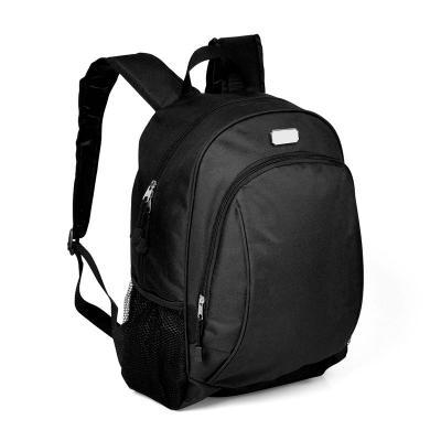 Redd Promocional - Mochila preta personalizada confeccionada em Poliéster 300D/600D. Conta com compartimento interno para Notebook, alças ajustáveis, dois bolsos laterai...