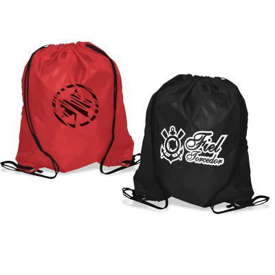 Redd Promocional - Mochila saco em nylon 70 resinado com gravação em silk, com alças em cordão 4/1 ilhos 45. Diversas opções