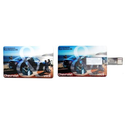 Redd Promocional - Pen dive 8 GB personalizado no formato de cartão.
