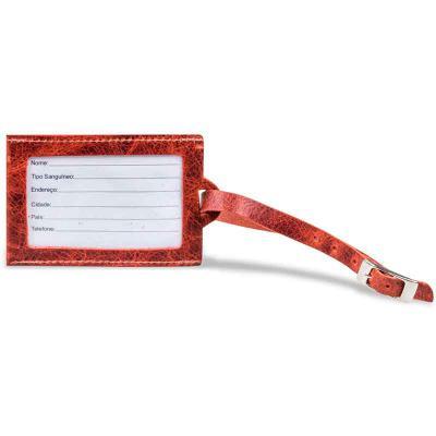 Artlux Brindes de  Couro - Tag de identificação para mochilas e bolsas de viagem