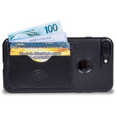 Artlux Brindes de  Couro - Case para Iphone desenvolvida com porta cartão, porta dinheiro e porta CNH em um só lugar, a capa protege seu Iphone e mantém tudo que é de mais neces...