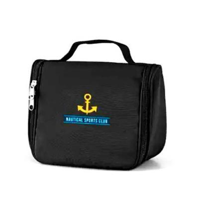 Imagine Pack Brindes - Bolsa ou necessaire para cosméticos em microfibra. Com vários bolsos interiores e gancho para pendurar. Medida : 20 X 16 X 8,5