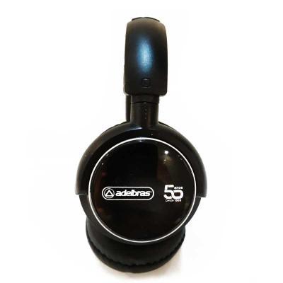 """Imagine Pack Brindes - Headphone wireless preto com haste ajustável e fones giratórios, """"tiara"""" e protetor de ouvido em couro sintético revestido de espuma. Indicador led, b..."""