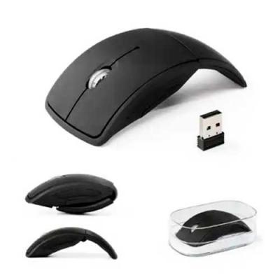 Imagine Pack Brindes - Mouse sem fio dobrável. 2.4G. ABS. Acabamento emborrachado. Incluso duas pilhas AAA. Com caixa transparente. Ótimo brinde para impressionar seus clien...