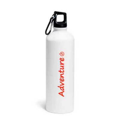 Imagine Pack Brindes - Squeeze de alumínio com mosquetão. Capacidade: 750 ml. Acabamento matt. Verificar disponibilidade de cores.