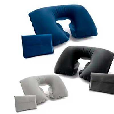 Imagine Pack Brindes - Almofada para pescoço em PVC aveludado.