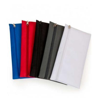 Imagine Pack Brindes - Necessaire de nylon 600 com zíper. Medida aproximada 12,7 X 25,4 cm.