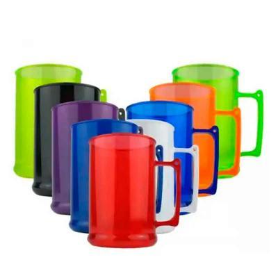 Imagine Pack Brindes - Caneca em acrílico 500 ml. Altura: 11,5 X diâmetro 7,5 cm. Cores sujeitas à disponibilidade no estoque.