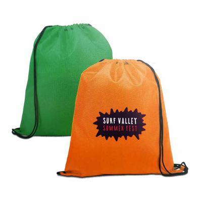 Imagine Pack Brindes - Sacola tipo mochila em nylon. Medida 35 X 41 cm. Várias cores.