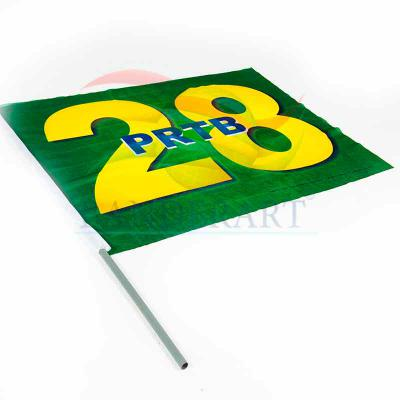 Banderart - Bandeira torcedor político estampadas em tecido 100%poliéster. Indesmalhável.  Nas medidas: 0,70 x 1,00 m 0,90 x 1,30 m 1,40 x 2,00 m