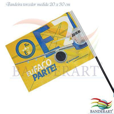 Banderart - Bandeira em poliéster com haste para carro.