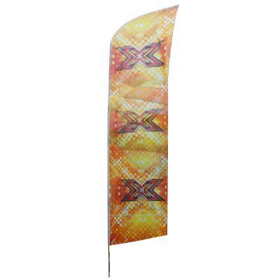 Banderart - Wind banners em tecido duralon 100% poliéster com haste giratória.