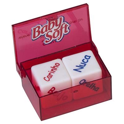 Still Promotion - Dado do amor, Tamanho da Caixa: 2,3cm x 3,7cm x 5,3cm DADO 1 - boca - nuca - mão - orelha - pé - ! DADO 2 - beijo - chamego - carinho -...
