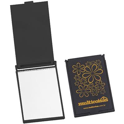 Still Promotion - Espelho de Bolsa Retangular. Tamanho: 8,5 cm x 5,5 cm