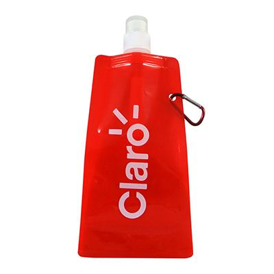Still Promotion - Squeeze dobrável com mosquetão 480 ml. Tamanho: 26,2 x 11,0 cm
