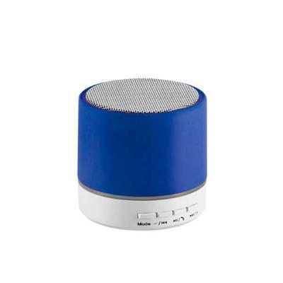 lamarca-brindes - Caixa de som com microfone. ABS. Acabamento em borracha. Com transmissão por bluetooth e leitor de cartões TF. Com 3W/4Ω. Autonomia até 2 h. Funç...