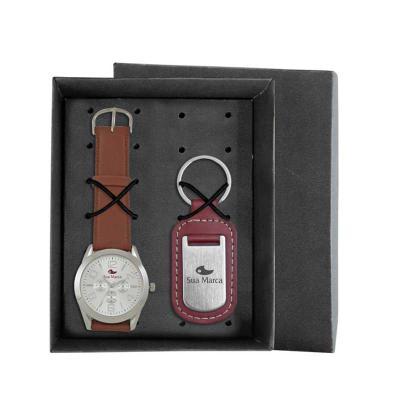 Lamarca Brindes - Kit contém: Relógio de pulso RXL, mostrador soley com 01 cor de gravação, cronógrafos decorativos, pulseira sintética, certificado de garantia e chave...