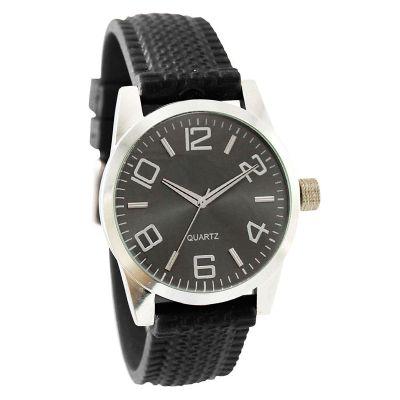 Lamarca Brindes - Relógio de pulso com mostrador fume, pulseira de borracha, 01 cor de gravação. Acompanha certificado de garantia e embalagem individual.