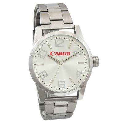 Lamarca Brindes - Relógio de pulso com mostrador soley, pulseira de metal, 01 cor de gravação. Acompanha certificado de garantia e embalagem individual.