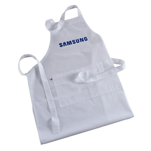 Opção Promocional - Avental confeccionado em brim leve, com bolso, personalizado com gravação em silk ou bordado.