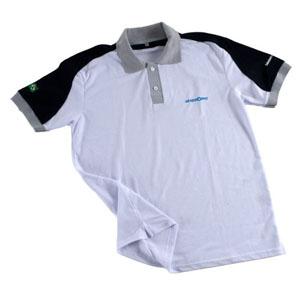 Opção Promocional - Camisa polo, confeccionada em Piquet PA, com recorte ombro e manga.