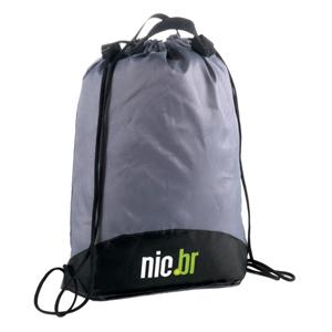 Opção Promocional - Mochila-Saco confeccionada em nylon 210 resinado.