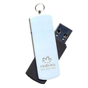 Opção Promocional - Pen-drive giratório, com gravação a laser, capacidade de 02 GB, 04 GB ou 08 GB. Não perca tempo, personalize já o seu!