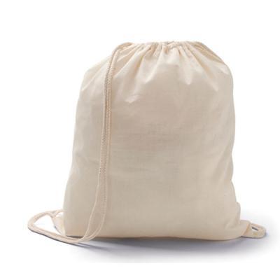 Mochilete / sacochila  Feita de algodão Com cordão  Medida da mochila: 37 x 41 cm  Com aplicação de logomarca a 01 cor em 01 lado na medida de 95 x 60...