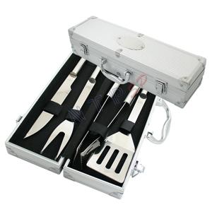 NTP Brindes - Kit churrasco em maleta metalizada