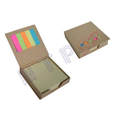 NTP Brindes - Bloco de anotações com 05 blocos adesivados.