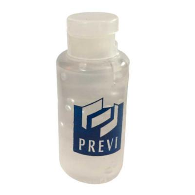 NTP Brindes - Álcool gel hidratante 70% Higienizante Frasco cilíndrico com capacidade de 50 ml com tampa flip top Com impressão adesivada