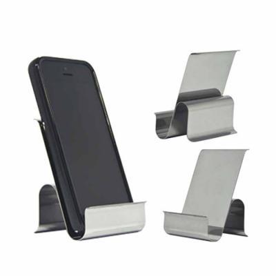 NTP Brindes - Porta celular Feito de aço inox  Medida: 6,5 x 7,7 cm (largura x altura)  COM 01 gravação laser  Ótima opção de brinde promocional ou presente corpora...