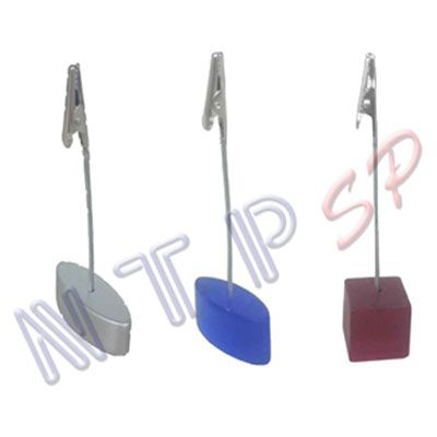 NTP Brindes - Porta recado / porta cartão de mesa com pregador jacaré