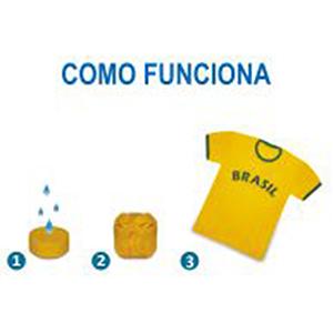Redosul Brindes - Camiseta prensada em tamanho diferenciado.