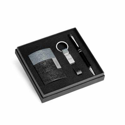 Redosul Brindes - Kit personalizado de porta cartões, chaveiro e caneta