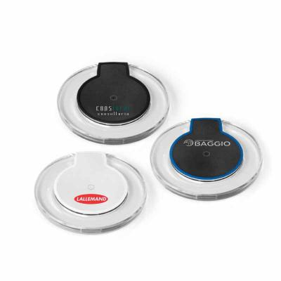 Redosul Brindes - Carregador wireless produzido em ABS. Carregamento do dispositivo por indução. Com entrada 5V/2A e saída 5V/1A. Incluso cabo USB/micro USB para carreg...