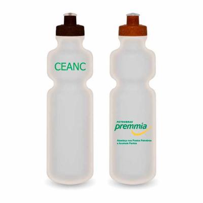 redosul-brindes - Squeeze Ecológico Fibra de Coco ou Madeira e Corpo Translúcido 750ml