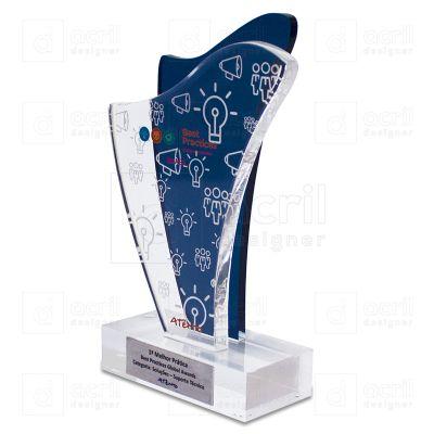 Bilateral Promocionais - Troféu de acrílico personalizado.
