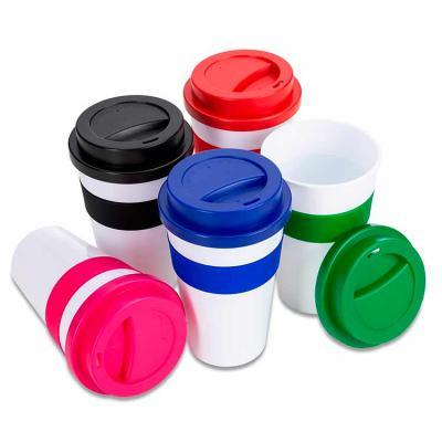 VitoriaYZ - Copo plástico 480ml com tampa. Produzido em polipropileno e livre de BPA, o copo possui uma luva de silicone (removível) que impede a transferência de...