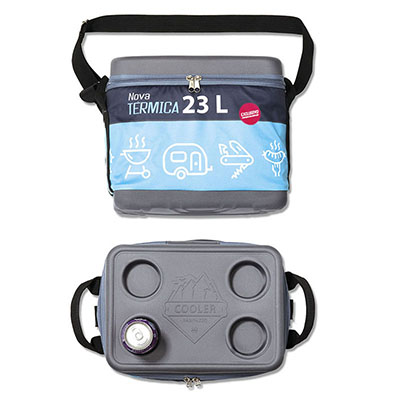 Rampazzo Brindes Especiais - Cooler térmico com tampa, fechamento em zíper, gravação em relevo ou transfer, 23 opções de cores, medida 36 x 26 x 30 cm