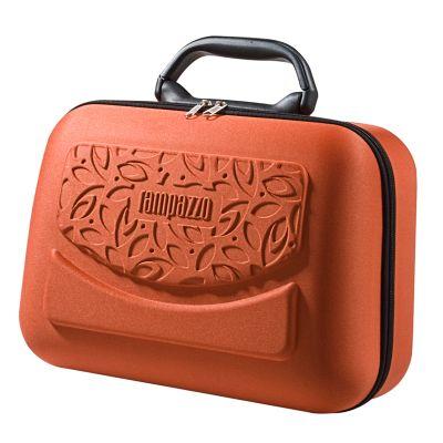 Rampazzo Brindes Especiais - Frasqueira moldada em E.V.A. com revestimento, zíper, bolso em tela, espelho, alça de mão e gravação personalizada.