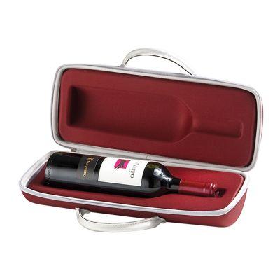 Rampazzo Brindes Especiais - Maleta para vinho ou champagne termo moldado com zíper, berço moldado para acomodação de uma garrafa e gravação personalizada
