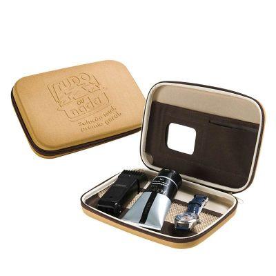 Rampazzo Brindes Especiais - Estojo moldado em E.V.A. com zíper, bolso em tela, espelho e gravação personalizável