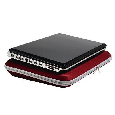 rampazzo-brindes-especiais - Pasta para notebook termo moldado com zíper, bolso e gravação personalizável.