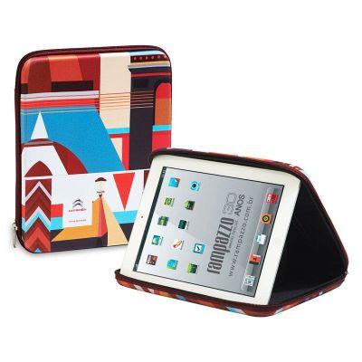 Rampazzo Brindes Especiais - Porta tablet termo moldado com revestimento, zíper e gravação personalizável