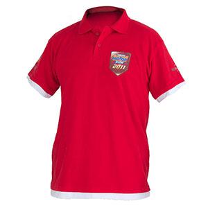 Camisetas Promocionais - Camisa polo com malha pique estampa em silk    transfer e bordado. 0b913a6be695d
