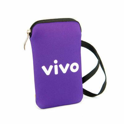 Brinde & Leve - Porta celular com zíper