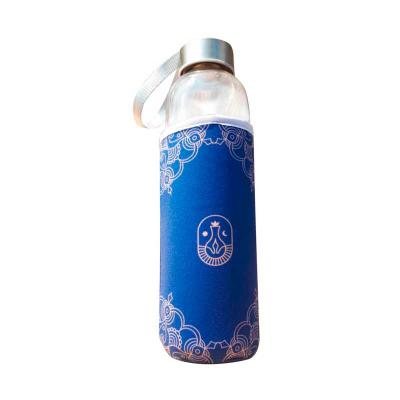Brinde & Leve - Squeeze de Vidro com Luva em Neoprene Personalizada